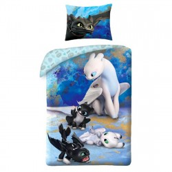 How To Train Your Dragon Puppies Pussilakanasetti Bed linen 140x200+70x90cm