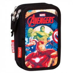 Marvel Avengers Thunder 45-delt Triple Filled Penny Case School