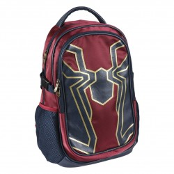 Avengers Iron Spiderman Casual Travel Ryggsäck Skolväska Ergonomisk 47cm
