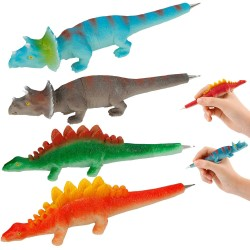 4-Pack Dino World Pens Ballpoint Pen Dinosaurs Figures