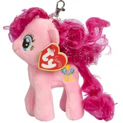 TY Sparkle My Little Pony Clip Pinkie Pie Unicorn Key Clip Soft Plush 11cm