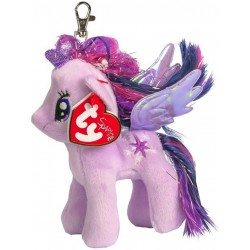 TY Sparkle My Little Pony Twilight Sparkle Unicorn Key Clip Soft Plush 11cm