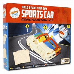 Grafix Build & Paint Your Own Wooden Sports Car Construction Kit Craft