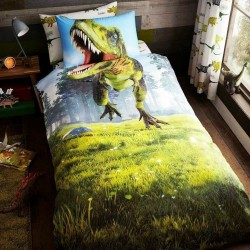 Dinosaur T-Rex Bed Linen Single Duvet Cover Set 137x200 cm