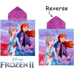 Disney Frozen 2 Magical Journey Kids Double Sided Hooded Towel Poncho 115*55cm
