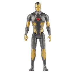 Marvel Avengers Titan Hero Series Black Gold Iron Man Action Figure 30cm