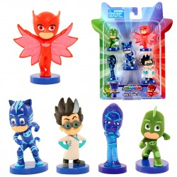PJ Masks 5-Pack Collectible Mini Figure Set Pyjamasheltene Samlerobjekter 5stk