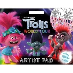 Trolls 2 Artist Pad Colouring Activity Book A3 With Reusable Stickers