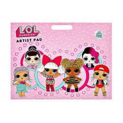 L.O.L. Surprise! LOL Artist Pad Colouring Activity Book A3 With Reusable Stickers