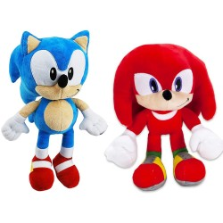 2-Pack Sonic The Hedgehog & Knuckles Plush 30cm