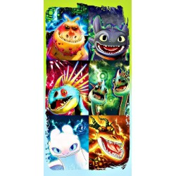 How To Train Your Dragon 6 Dragons Kids Towel 140*70 cm