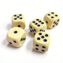 Dice D6 5-Pack, 14mm Board Games Games Yatsy Role Playing