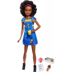 Barbie Skipper Babysitting Doll With Phone & Baby Bottle