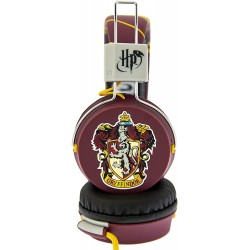 Harry Potter Gryffindor Crest Tween On-Ear Headphones Max 85dB