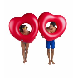 Bigmouth Inflatable Air Mattress Bed Floating Lounge Giant Double Heart 220 cm