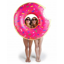 Bigmouth Oppustelig bademadras Floating Lounge Donut Pink 120cm