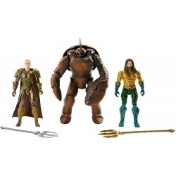 DC Aquaman 3-Pack Exclusive Action Figure Aquaman Brine King & Orm