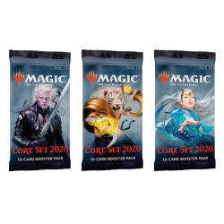 Magic The Gathering: Core Set 2020 Booster 3-pack. kort