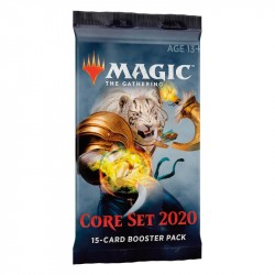Magic The Gathering: Core Set 2020 Booster 1-pack. kort