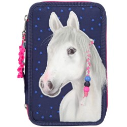 Miss Melody Horse 43-pieces Penaaleita Triple Set Pencil Case 3D With Mane