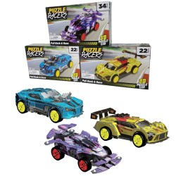 3D Puzzle Racers 1pc Pull-Back Build Your Own Car Assorted