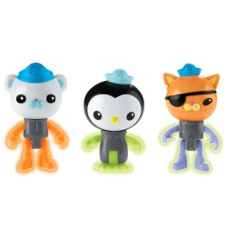 Octonauts 3-Pack Glow In The Dark Figure Peso, Kwazii & Barnacies
