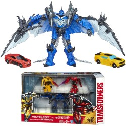 Transformers 3-Pack Bumblebee & Strafe vs Decepticon Stinger Action Figure