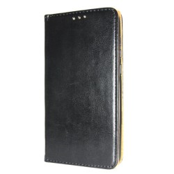Genuine Leather Book Slim Huawei P40 Cover Wallet Case Black