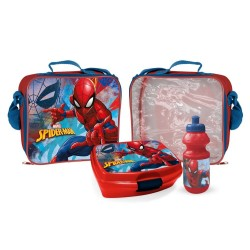 Spider-Man 3D Shoulder Bag With Lunch Box And Water Bottle