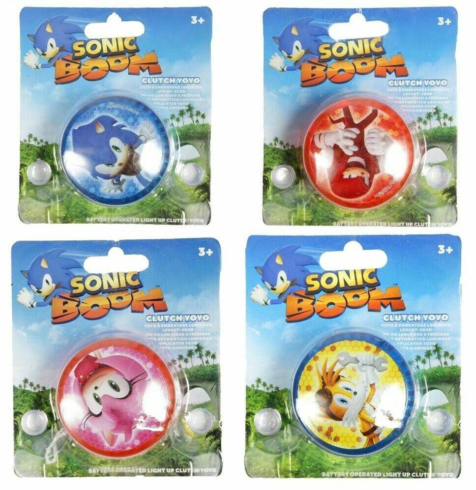 2 Pack Sonic The Hedgehog Sonic Boom Clutch Yoyo With Light 2 Pack