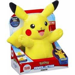 Pokémon Power Action Pikachu Lights & Sounds Plush Toy Soft 30cm