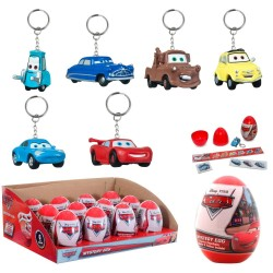 12-Pack Disney Cars Keychain Figures With Stickers And Tattoo Assorted