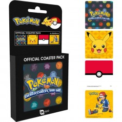 4-Pack Pokemon Official Coaster Pack 90x90mm
