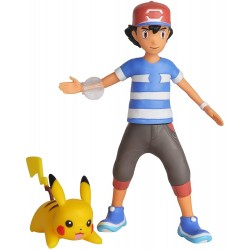 Pokémon Battle Feature Deluxe Action Figure Ash And Pikachu S1