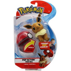 Pokémon Pop Action Poke Ball Eevee & Poke Ball Throw Poke Ball Plush