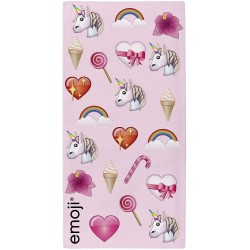 Emoji Multi Unicorn Kids Bath/Beach Towel 140*70 cm