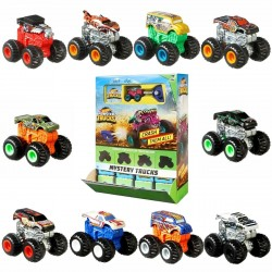 20-Pack Hot Wheels Monster Trucks Minis With Launcher & Stickers 4cm