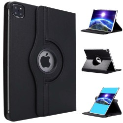 iPad Pro 12.9 2020 (4th Gen) Flexible Rotation Smart Cover Case Black
