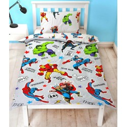 Marvel Comics Avengers Grey Bed linen Duvet Cover 135x200+48x74cm