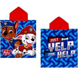 Paw Patrol Chase & Marshall Kids Double Sided Hooded Towel Poncho 100*50 cm
