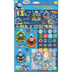 Thomas & Friends 150pcs Fun Foiled Re-usable Mega Sticker Pack