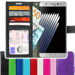 TOPPEN Samsung Galaxy Note 7 Wallet Case ID pocket, 4pcs Cards + Wrist strap